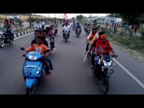 vishwa hindu parishad Bike Rally In Godavarikhani
