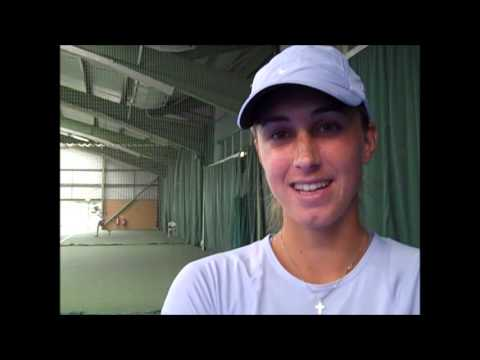 Petra Martic interviewed after winning the Aegon Trophy final