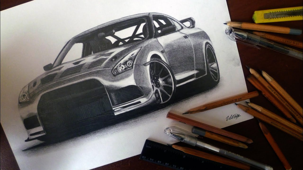 Nissan 日産 Gt R Drawing Isp 2014 Youtube