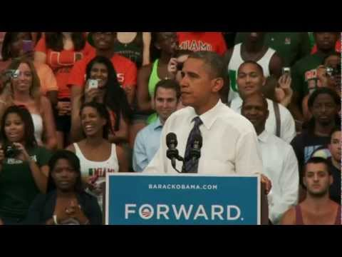 President Obama in Coral Gables, Florida - Full Speech 10/11/2012