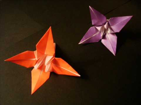 How to make an EASY ORIGAMI FLOWER - Instructions