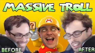 Mario Maker - We Tried So Hard, And Got So Far (Monstrous Troll Level) | Carl vs Poo #3