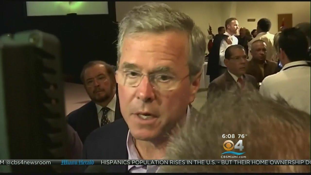 Jeb Bush Campaigns In Central Florida