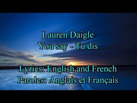 """Download Lagu  Lauren Daigle """"You say """" s/Paroles Anglais & Français Mp3 Free"""