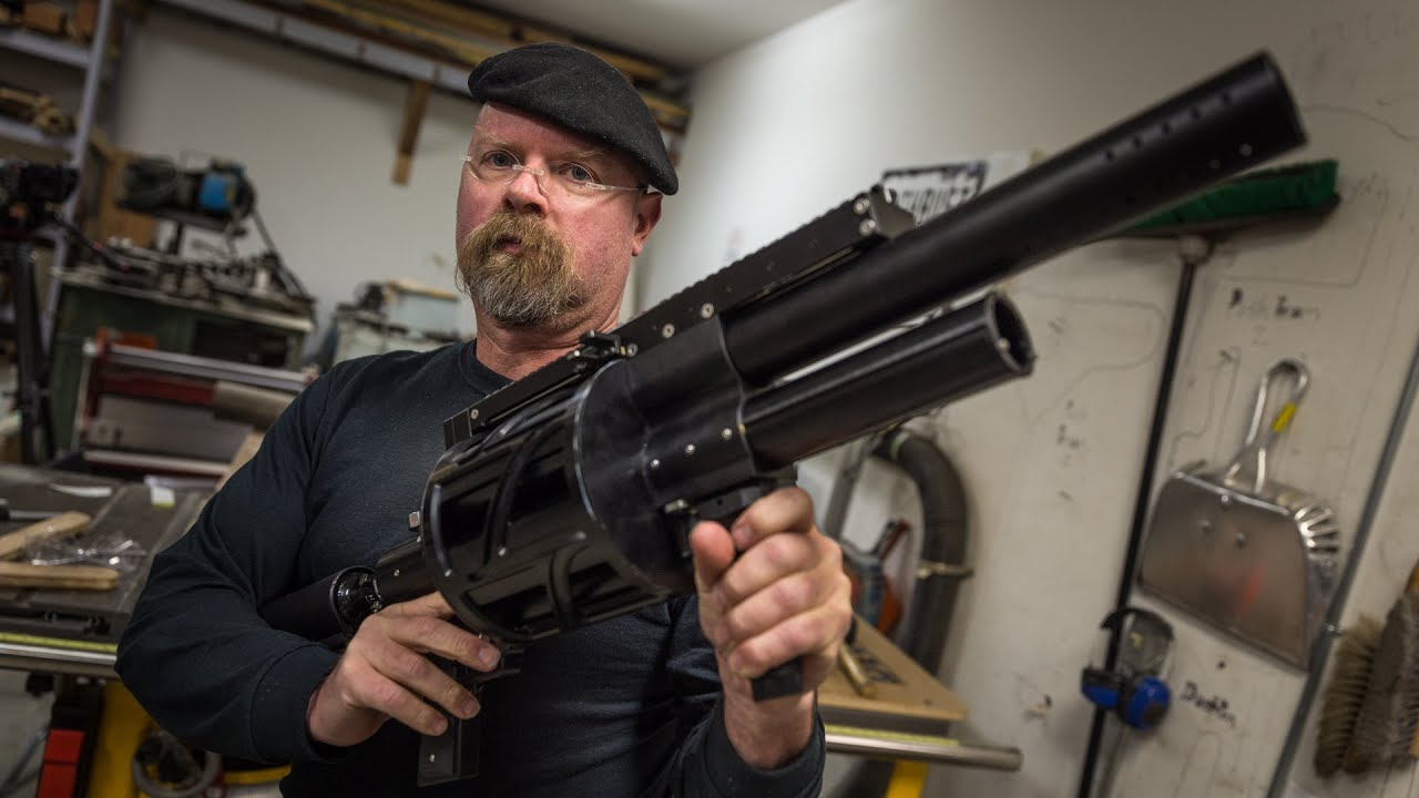 Jamie Hyneman S High Pressure Air Gun Youtube