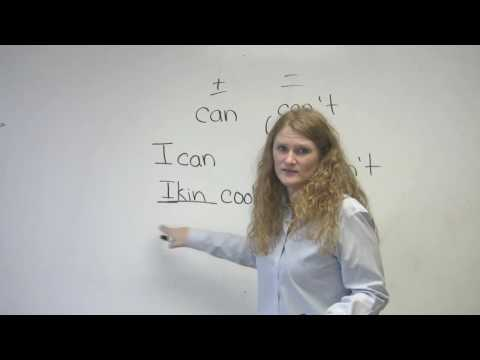 English Pronunciation - CAN &amp; CAN'T