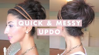 Quick & Messy Bun / Up-Do