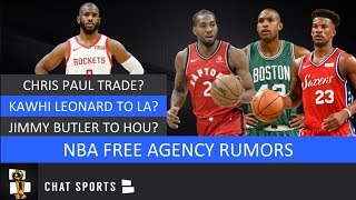 NBA Free Agency Rumors On Chris Paul Trade, Kawhi Leonard amp Lakers, Al Horford amp Jimmy Butler Latest