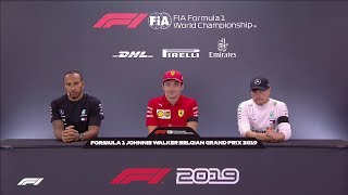 F1 2019 R13 Belgium - Post-Race Press Conference