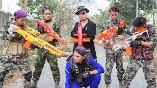 LTT Nerf War : Special Task Couple SEAL X Warriors Nerf Guns Fight Criminal Group Dr Lee