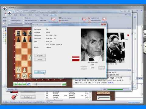 ChessBase 11 - Allgemeine Bedienung des Programms