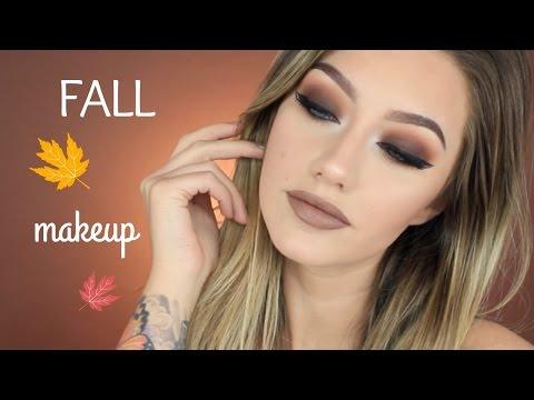 Brown Smokey Eye Tutorial   Fall Makeup   Jazzi Filipek