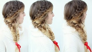 Braided Side Swept  Holiday Hairstyle   Holiday Hairstyles   Braidsandstyles12