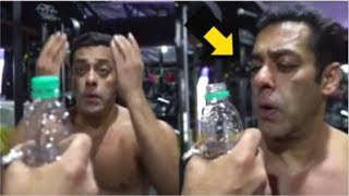Salman Khan's FUNNY Video Doing Bottle Cap Challenge Shirtless In Gym