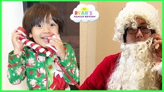 CALL FROM SANTA! Kid decorating Christmas Tree with twin baby sisters Ryan