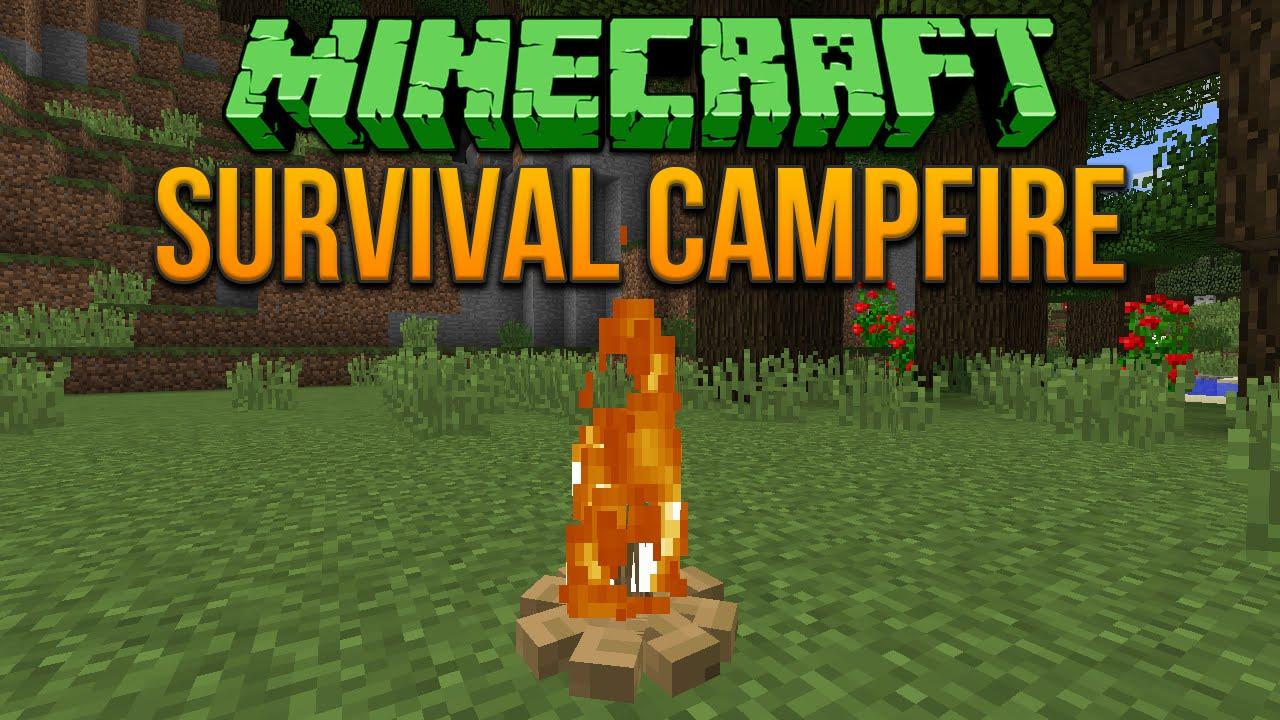 Minecraft 1.8: Survival Campfire Tutorial - YouTube