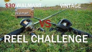 $30 WALMART VS VINTAGE REEL CHALLENGE!