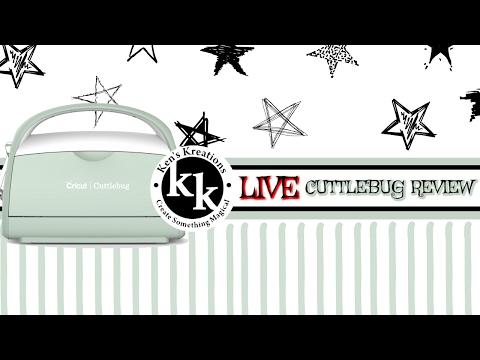 Cuttlebug Die Cutting Machine Review & Tutorials (Recorded Live)