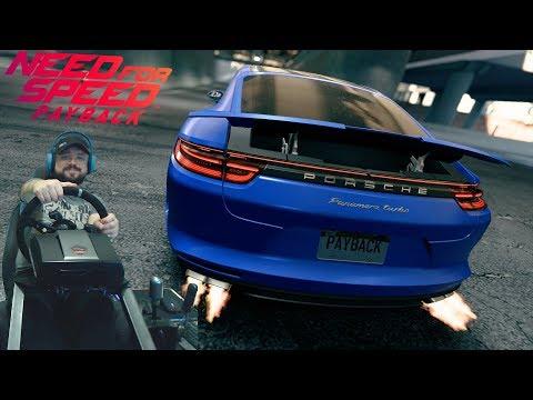 Это называется погоня? Игра в футбол с копами на Porsche Panamera Turbo 2017 Need for Speed Payback