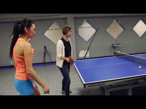 Soo Yeon Lee - Table Tennis Training Tuesday - BTS - Alexis Evelyn Vs. Reggie Miller