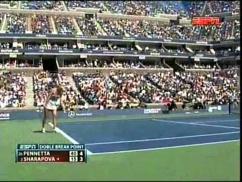 Flavia Pennetta vs Maria Sharapova -- Us Open 2011 -- 3rd Round