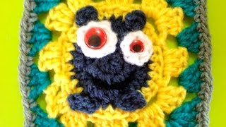 How To Crochet A Funny Monster Granny Square - DIY Crafts Tutorial - Guidecentral