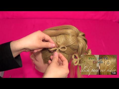 PEINADO PARA NOVIA - Cebolla / Chongo de Flores | Bun Flowers Hairstyle - ViriYueMoon