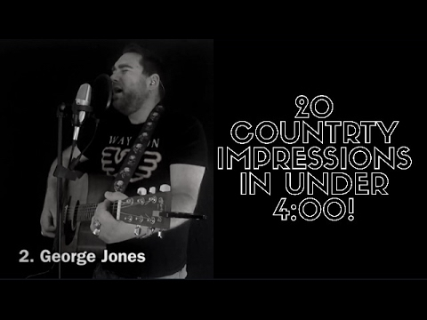 20 Country Music Impressions In Under 4 Minutes!!!