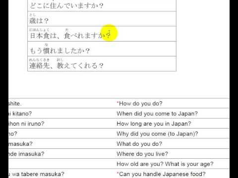 how to say i want to speak japanese in japanese