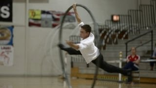 WC 2013 in Wheel Gymnastics  Cyrwheel Finals Bobby Cookson 5...