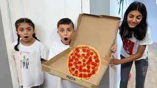 Pizza Delivery to our House! who ate all the Pizza Kids Prank!