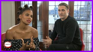 Joker Interview with Joaquin Phoenix , Zazie Beetz and Todd Phillips