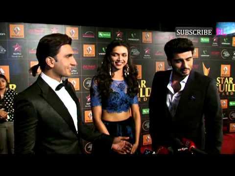 Video | Deepika Padukone, Ranveer Singh & Arjun Kapoor | Star Guild Awards Red Carpet 2013