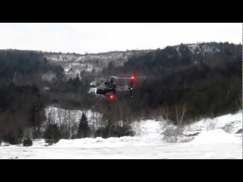 Bell 407 Landing at Gunstock Alpine Ridge