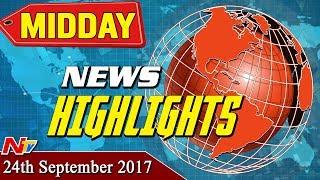 Midday News Highlights || 24th September 2017