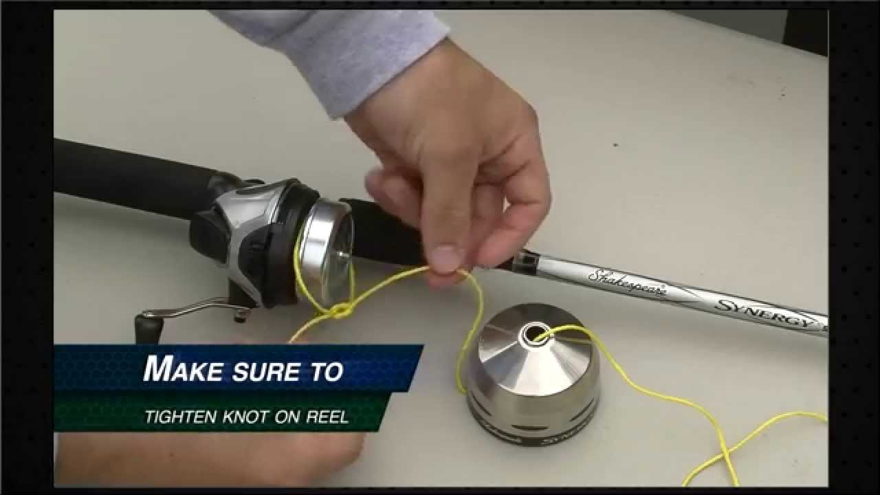 Spincast Reel Spooling Re-spool a Spincast Reel