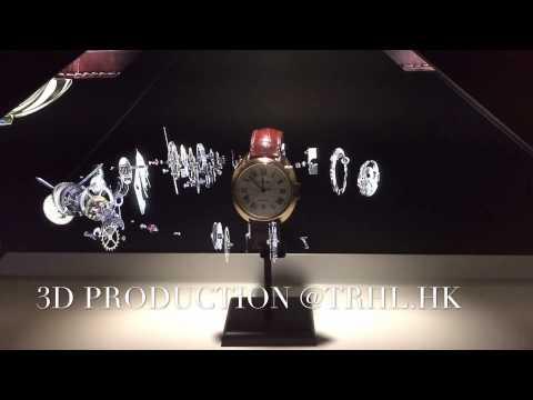 カルティエの腕時計の3Dプロジェクションマッピングがアート!