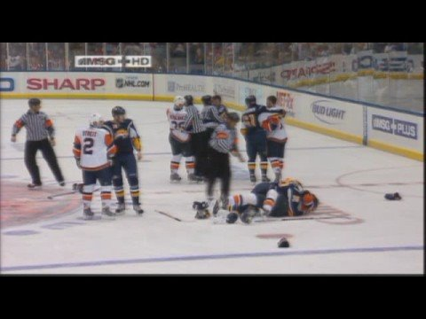 Buffalo Sabres vs New York Islanders Oct 13, 2008 Video