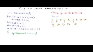 Finding Prime numbers - Sieve of Eratosthenes