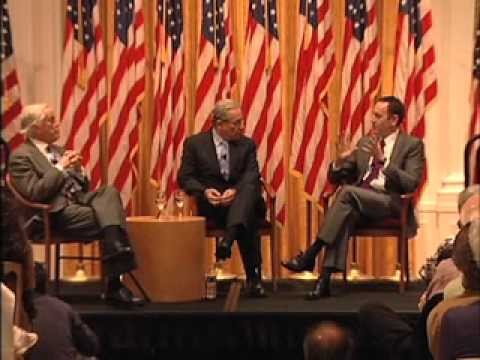 Bob Woodward and Ben Bradlee at the Nixon Library, part I