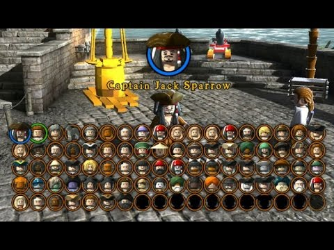LEGO Pirates of the Caribbean - A Look at all Playable Characters (Complete Character Grid)