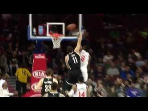 Brook Lopez with the Emphatic Swat