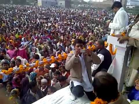 Fateh bahadur singh's bumper election rally on 7.02.12 as ncp candidate of Camperganj/gkpr u.p.