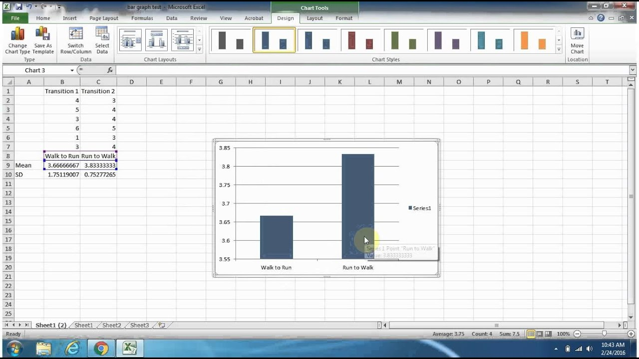 Bar Graph Template Excel