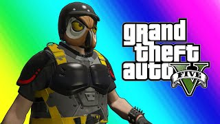 GTA5 Online Funny Moments: Doomsday Heists - Saving the World & Flying Delorean Car!