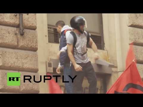 Italy: Rome hit by anti-austerity riots