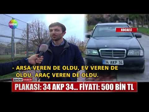 Plakası: 34 AKP 34... Fiyatı 500 Bin TL