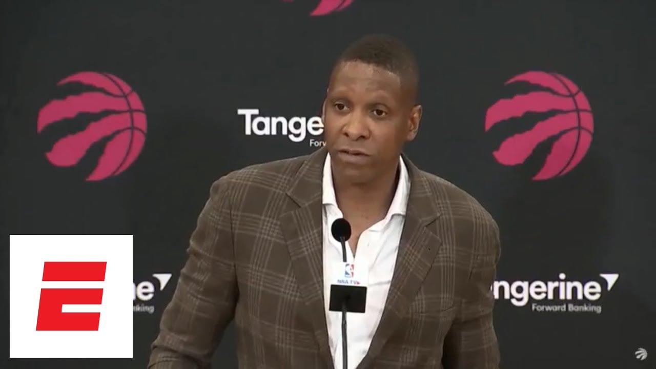 [FULL] Raptors GM apologizes to DeMar DeRozan, talks Kawhi Leonard trade in press conference | ESPN