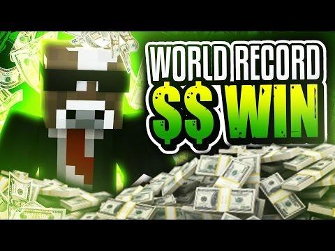 WORLD RECORD MONEY WIN!! ( Minecraft Money Wars w/ Rusher & Prestonplayz )