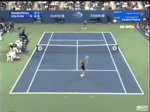 Maria Sharapova vs Tatiana Golovin 2006 US Open Highlights